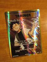 NM FULL ART Pokemon BROCK'S GRIT Card EVOLUTIONS Set 107/108 XY Trainer Support