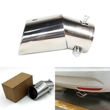 Car Sliver Round EXHAUST Tail Muffler Tip Pipe Stainless Steel Universal Tippipe