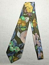 Vintage Men's Necktie Tie Classic Style Gino Rossi Abstract Colour Retro Khaki