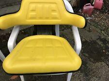 Universal Yellow Tractor Suspension Seat Fits John Deere 510000yf02 316 318 More