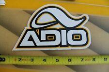ADIO Footwear Shoe Co Skateboard Black Yellow F1 Vintage Skateboarding STICKER
