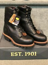 CHIPPEWA LIMITED EDITION SUPER LOGGER BOOTS # 59410 STEEL TOE  size 10 E