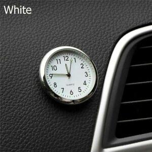 Luminous Car Dashboard Air Vent Stick-On Time Clock Quartz Analog White Watch