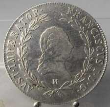 RRR!! 20 Kreuzer 1819 M, Mailand, Franz I., Silber