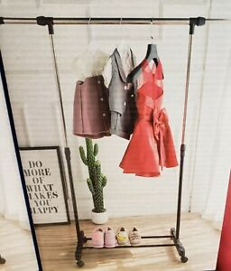 Heavy Duty Garment Hanging Rack Clothes Rail Display Stand Shoe storage shelf UK