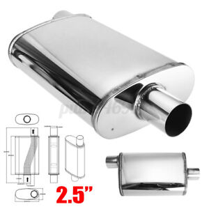 2.5'' 63mm Universal Car Muffler Exhaust Sports Center/offset 4''x 9''x14'' AU