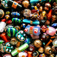 FANCY GLASS BEADS PREMIUM MIX 8-14MM 25 INDIA BEAD MIXES FG2