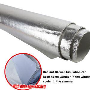 Solar Attic Foil Reflective Radiant Barrier Insulation Adhesive Block Heat SUN
