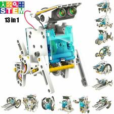 STEM Solar Powered Robot Kit 13 in 1 Motorised Engine and Gears Building Toys