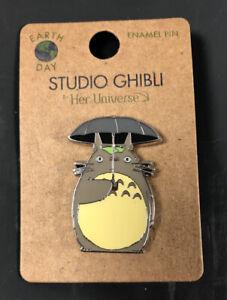 Studio Ghibli Loungefly My Neighbor Totoro Umbrella Earth Day Metal Enamel Pin