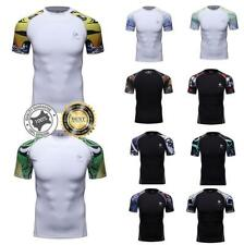 Men Workout Compression Shirts Quick-dry Fitness Top Running Basketball Gym Tee