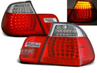 Coppia di Fari Posteriori per BMW E46 Serie 3 1998-2001 Rosso Bianco LED IT LDBM