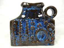 "Beautiful glazed 70´s  design Carstens "" Relief "" Keramik pottery vase 7808 - 15"