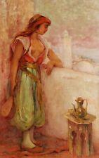 Léon GEILLE de SAINT LÉGER tableau orientaliste femme musicienne orientalisme