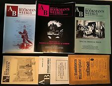 1961 Booklovers' Marketplace +8 Bookman's Weekly +1 Yearbook 1981-90