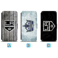 Los Angeles Kings Leather Flip Case For iPhone X Xs Max Xr 8 7 Galaxy S9 S8