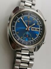 Vintage Seiko Bruce Lee 6139-6012 Chronograph Automatic Watch- men's - 1970's