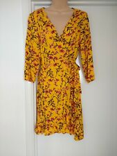 NEW RED HERRING SUMMER WRAP OVER DRESS BEAUTIFUL WASHABLE SIZE 10 RRP £32