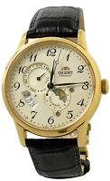 Orient Sun and Moon Automatic RA-AK0002S Brown Leather Band Men's Watch