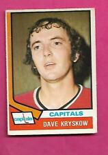 1974-75 OPC # 62 CAPITALS DAVE KRYSKOW ROOKIE VG  CARD (INV# C0031)