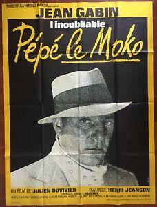 Poster Pepe The Moko Julien Duvivier Jean Gabin Mireille Balin 47 3/16x63in