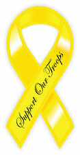 "Yellow ribbon Support Our Troops sticker decal 3"" x 6"""