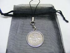 1960 Lucky Sixpence Mobile Phone / Handbag Charm - Nice Birthday Present