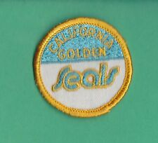 Original 1970'S California Golden Seals Embroidered Nhl Hockey Patch