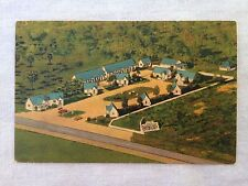 Blue and White Motor Court Linen Postcard - St. Augustine, Florida +