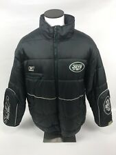 NY Jets Reebok Vintage Puffer Coat Jacket Sleeve Pockets Mens Size XL