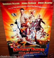 LOONEY TUNERS: BACK IN ACTION (2003) BRENDAN FRASER JENNA ELFMAN BANNER 4' X 6'