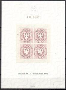 Lübeck Gedenkblatt Michelnummer  postfrisch  (europa:6945)