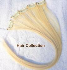 "18"" Blonde 100% Human Hair Clip In Extensions for Highlights"