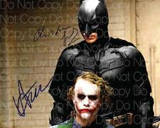 The Dark Knight Joker poster signed Ledger 8X10 photo picture autograph RP