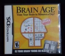 Nintendo Brain Age DS CASE + INSTRUCTION BOOK ALL INSERTS **NO GAME CARTRIDGE!**