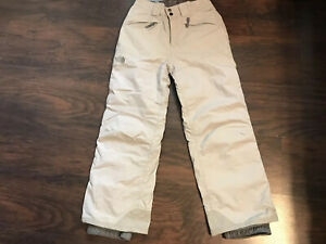 The North Face Garçons Boys Hyvent Ski Snow Pants Size Large Light Gray