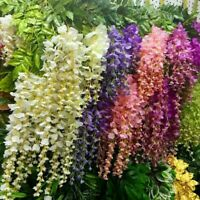 12Pack Artificial Silk Wisteria Vine Hanging Garland Wedding Garden Decor 3.6ft