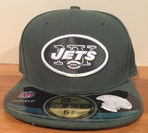 New York Jets New Era NFL Onfield 59Fifty Fiftted Cap Hat Size 6 3/8