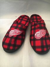 Detroit Red Wings NEW X-Large Flannel Cup Sole House Slippers . NHL Hockey Boxed