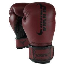 Viking Norse King Boxing Gloves - Vintage Burgundy/Black 12oz