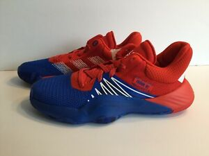 Adidas D.O.N. Issue #1 J Spider Man Basketball Shoes Sneakers Red Blue Youth 7