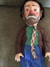 "Vintage Emmett Kelly Weary Willie The Clown Doll Toy Approx. 20"" Tall"