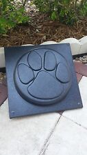 """Dog Paw Print - concrete plaster stepping / garden stone 12"""" round FORMING MOLD"""