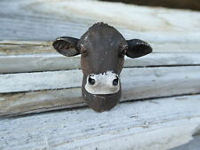 COW Head Brown Calf KNOB Farmhouse Furniture Country Cabinet Drawer Pull Knobs