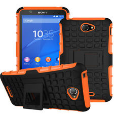 Shockproof Stand Armor Hard Soft Back Hybrid Case Cover For Sony Xperia M4 Aqua