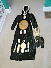 VICTORIAN ERA ladies HOODED opera coat/cape, shoes (2 pair), and dressing set