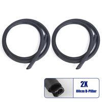 Car Door Edge Weatherstrip Soundproof Rubber Sealing Strip B-Pillar Front & Rear