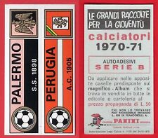ADESIVO CALCIATORI PANINI 1970/71 - NUOVO - STRISCIA  PALERMO/PERUGIA