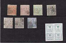 España. Conjunto de 8 sellos usados  y nuevo de la I República