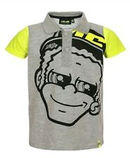 VALENTINO ROSSI POLO SHIRT KIDS 12/14 GREY VR46 MOTOGP THE DOCTOR, OFFICIAL, NEW